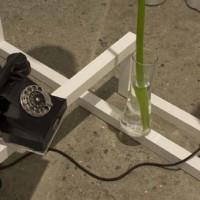 Thorsten Kirchhoff  Retrovisione, 2014 (particolare) impianto audio/video, materiali vari, foto Giorgio Benni